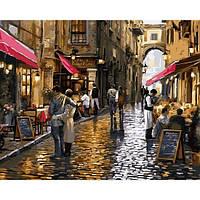 """Картины раскраски по номерам """"Уютные кафе"""" набор для творчества"""