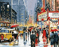 """Картины раскраски по номерам """"Рождественские хлопоты"""" набор для творчества"""
