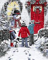 """Картины раскраски по номерам """"Рождественская сказка"""" набор для творчества"""