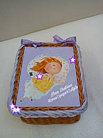 Плетеная шкатулка для девочки