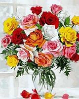 """Раскраски по номерам """"Красота роз"""" 40х50см, С Коробкой"""