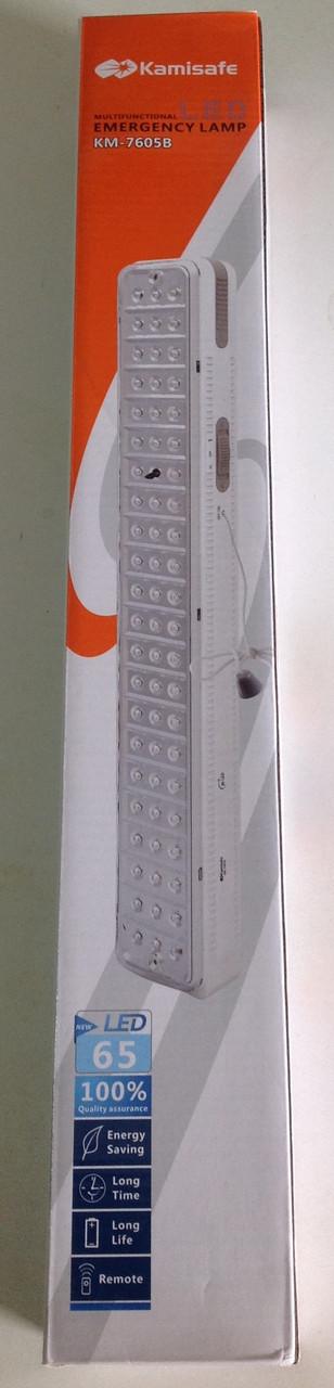 Диодный светильник лампа фонарик встроенный аккумулятор Kamisafe-7605