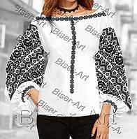 Заготовка для вишивки жіночої сорочки бохо В-111на габардині b9e61837b1b99