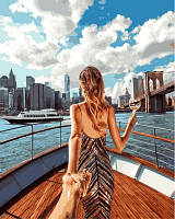 """Картины раскраски по номерам """"Следуй за мной. Пролив Ист-Ривер, Нью-Йорк"""" набор для творчества"""