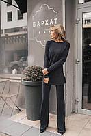 Трикотажный костюм с брюками клеш и туникой , 2 цвета код  ст 157