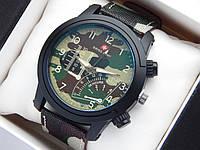 Мужские (Женские) кварцевые наручные часы Swiss Army ремешок из ткани (полиэстера), летний камуфляж, Air Force, фото 1