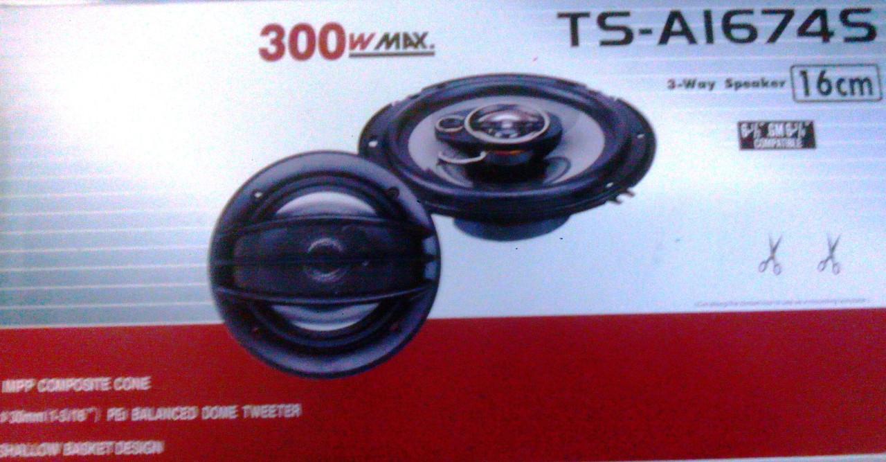 Авто акустика, динамики TS-A1674S 300W 16см