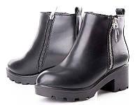 Стильные женские черные ботиночки (36-40)