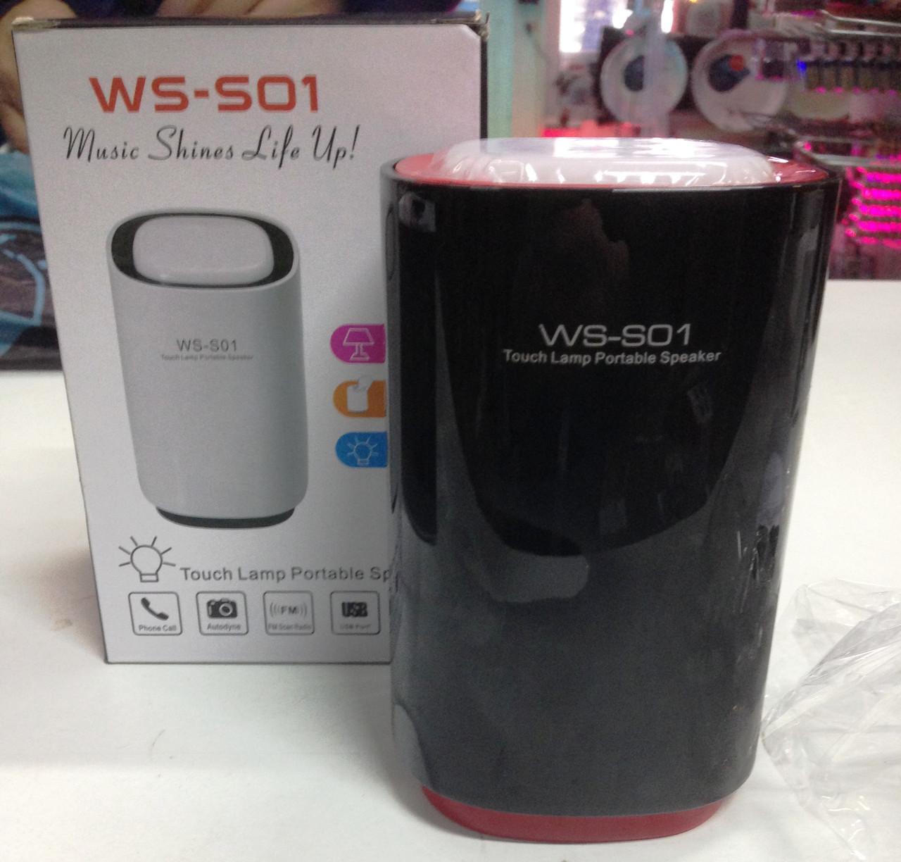 Портативная Bluetooth колонка WSTER WS-S01 MP3 FM USB