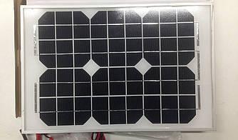 Солнечная панель маленькая 10W 18V