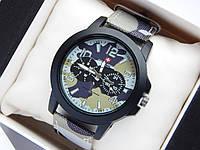 Мужские (Женские) кварцевые наручные часы Swiss Army на ремешке из ткани (полиэстера), хаки, зимний камуфляж