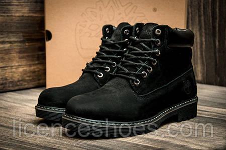Мужские черные зимние ботинки Timberland. Все натуральное