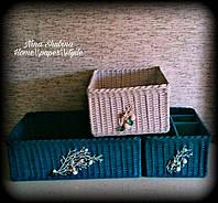 Плетеные интерьерные короба для хранения