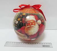 """Елочный шар """"Санта Клаус"""" 15 см"""
