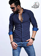 Стильная мужская рубашка приталенного пошива , фото 1