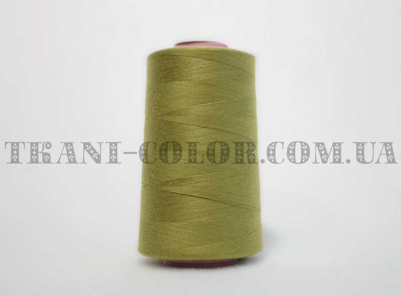 Нитка швейная 40/2 оливковая 4000 ярдов