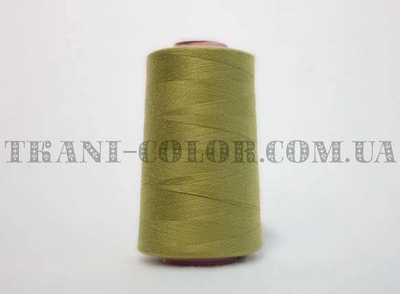 Нитка швейная 40/2 оливковая 4000 ярдов, фото 2