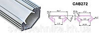 """Профиль для светодиодной ленты алюминиевый """"угловой с фаской""""  , серебро,  Feron CAB272"""