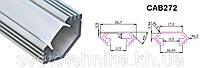 """Профиль для светодиодной ленты алюминиевый """"угловой с фаской""""  , серебро,  Feron CAB272, фото 1"""