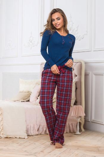 Трикотажная пижама.Штаны фланель.Турция