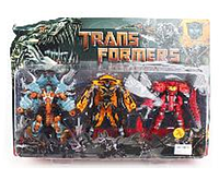 Трансформер 5035, робот-машинка и два дракона, 16 см.
