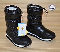 Зимние термо - сапожки дутики Tom.m чёрные размер 31