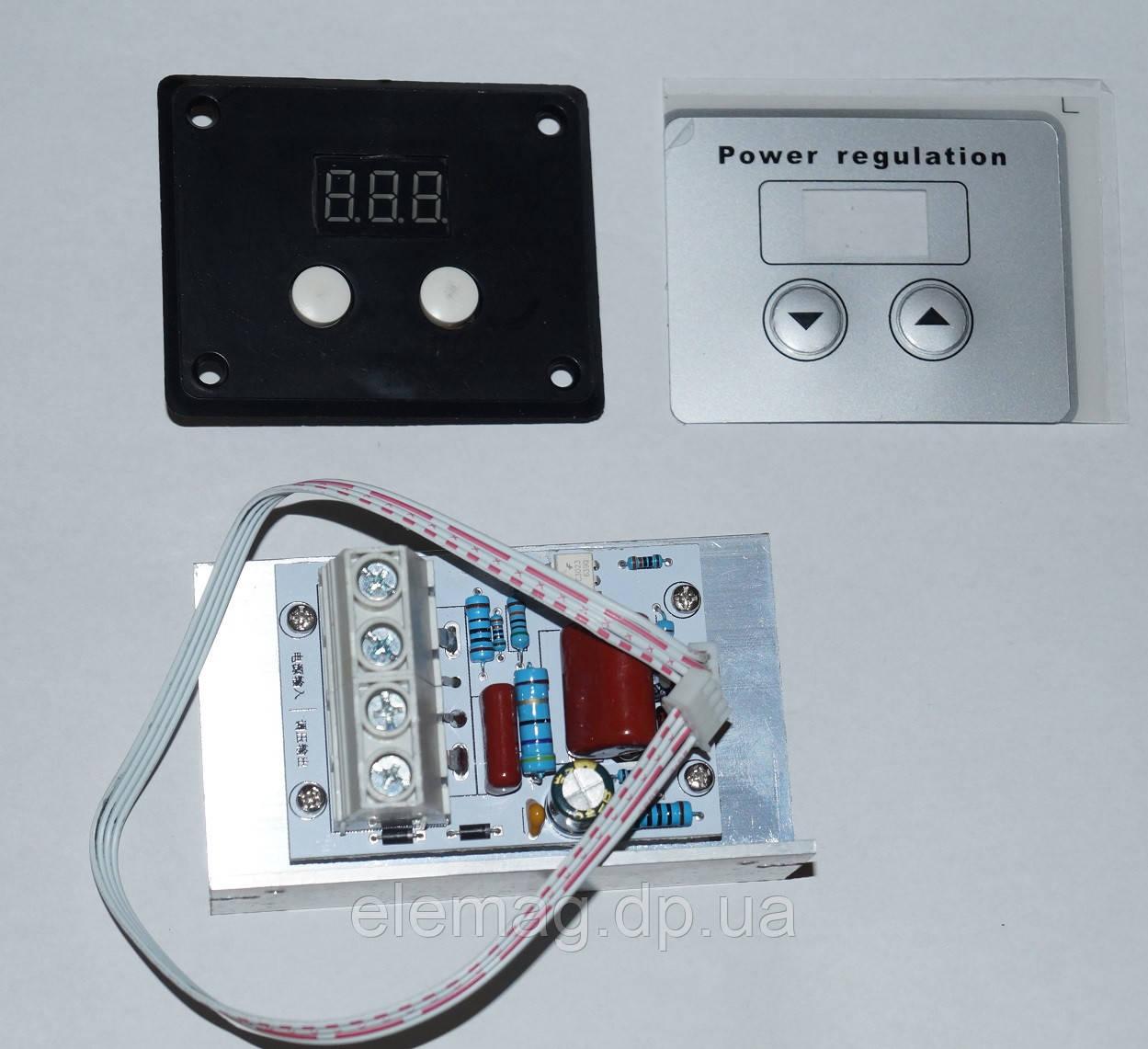 10000 Вт Цифровой  регулятор мощности (45А) 220В с цифровым дисплеем