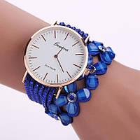 Женские кварцевые наручные часы-браслет Geneva Синие