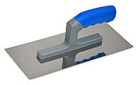 Гладилка стальная с нержавеющим покрытием, пластмассовая ручка 120х280 мм, гладкая