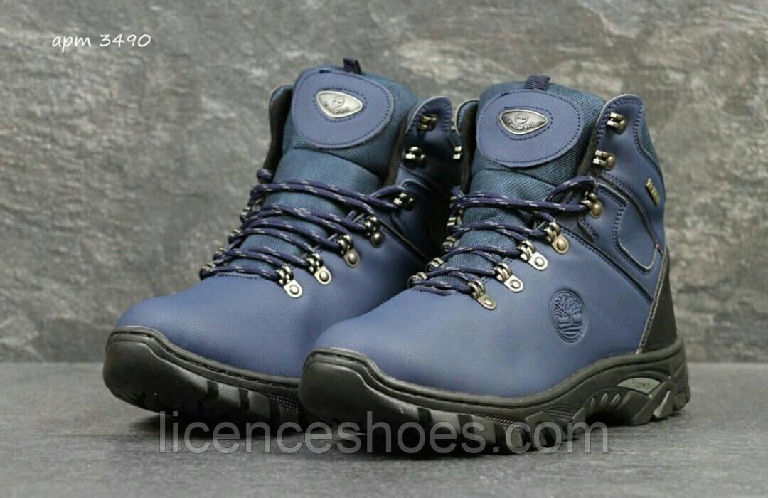 Мужские синие зимние ботинки Timberland. Последняя пара 40 на ногу 25.5см стелька 26см