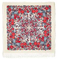 Утомленное солнце 511-0, павлопосадский платок шерстяной с шелковой бахромой   Первый сорт    СКИДКА!!!
