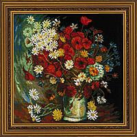Набор для вышивания крестом Риолис 1591 Ваза с маками, васильками и хризантемами по мот.карт. В. Ван Гога