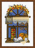 Набор для вышивания крестом Риолис 1593 Осеннее окошко