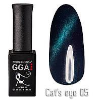"""Гель-лак """"Кошачий глаз"""", GGA,  10 мл, № 5"""