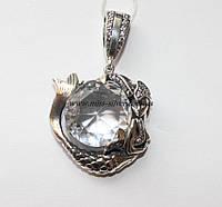 Русалка кулон серебро