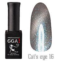 """Гель-лак """"Кошачий глаз"""", GGA,  10 мл, № 16"""