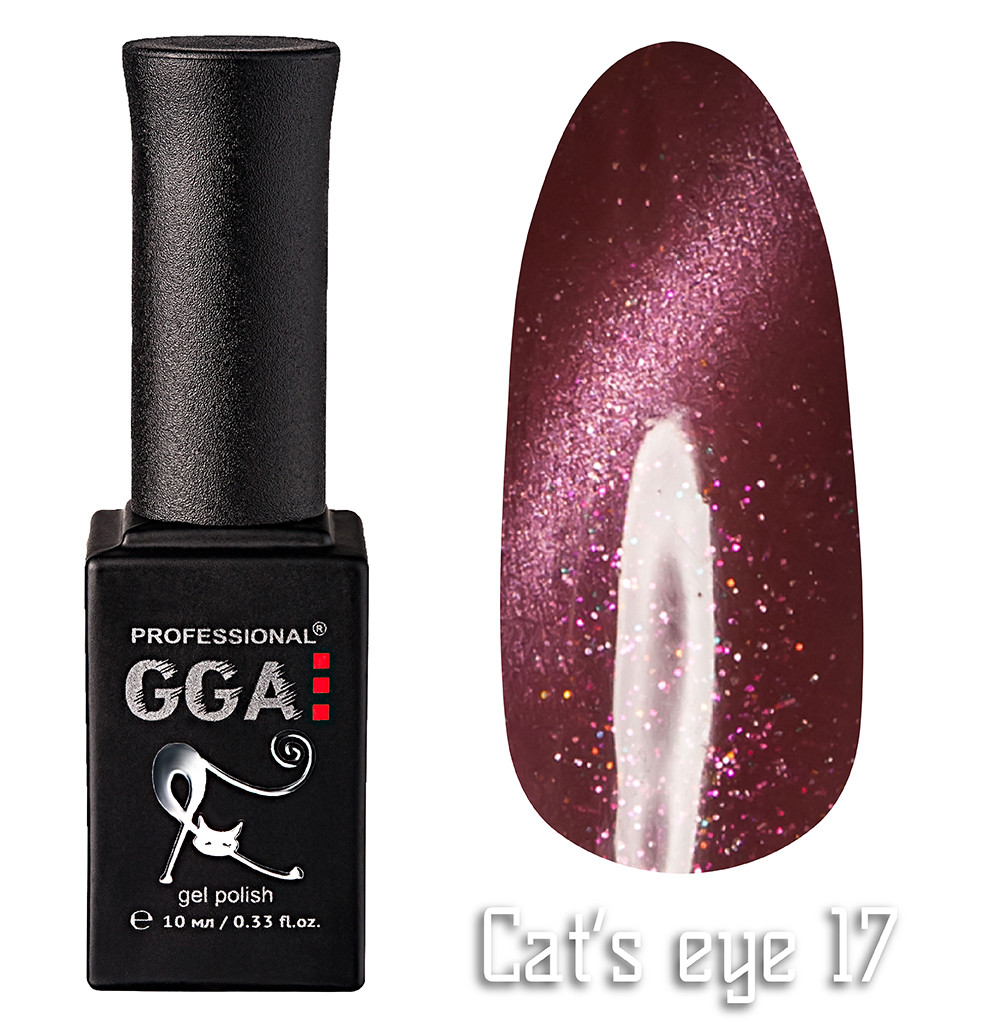 """Гель-лак """"Кошачий глаз"""", GGA,  10 мл, № 17"""