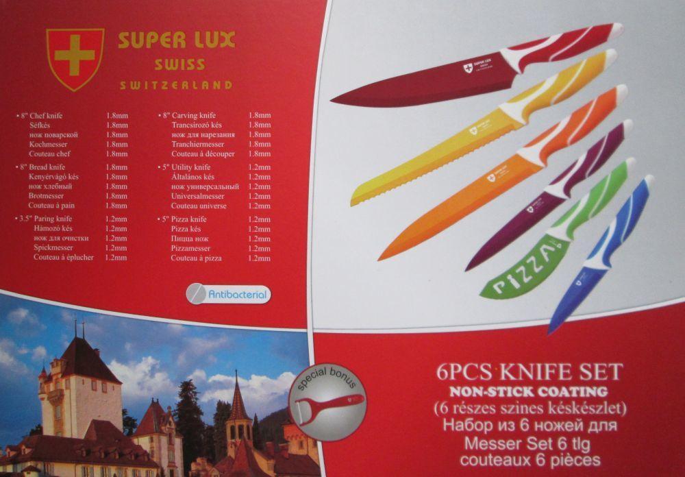 Набор ножей Super Lux с керамическим покрытием в коробке 1364