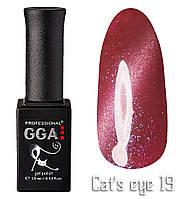 """Гель-лак """"Кошачий глаз"""", GGA,  10 мл, № 19"""