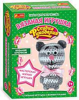 Вязаная игрушка Котик, набор для творчества, Ranok Creative