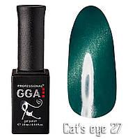 """Гель-лак """"Кошачий глаз"""", GGA,  10 мл, № 27"""