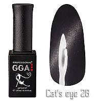 """Гель-лак """"Кошачий глаз"""", GGA,  10 мл, № 28"""