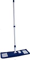 Швабра для ламината DUO MICRO (микрофибра плоская) Кий телескоп