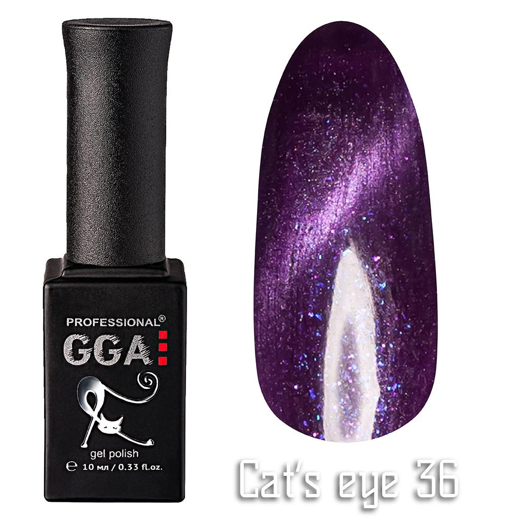 """Гель-лак """"Кошачий глаз"""", GGA,  10 мл, № 36"""