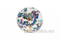 Мячик-попрыгунчик goki Блестящие звезды FB106G