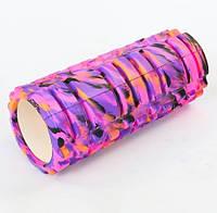 Роллер массажный Грид (Grid roller) Multicolor фиолетовый-черный 4940-5