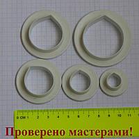 Вырубки лепестки роз (пластик) 5 шт