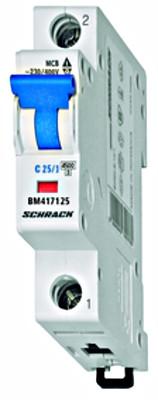Автоматический выключатель BM 4.5кА 1P 25А х-ка B 30 ° С Schrack
