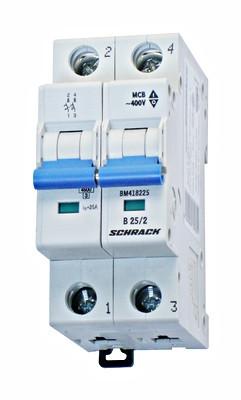 Автоматический выключатель BM 4.5кА 2P 40А х-ка B 30 ° С Schrack