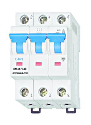 Автоматический выключатель BM 4.5кА 3P 40А х-ка C 30 ° С Schrack